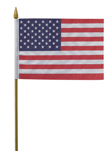 Special - USA Flag on stick  4 x 6 in